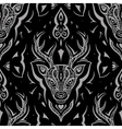 Deer head Seamless pattern vector image