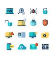 web security virus protection bug checkups vector image