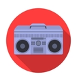 Boombox icon in flat style isolated on white vector image