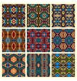 seamless colored vintage geometric pattern vector image