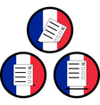 signs of voting in france vector image