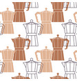 abstract repetitive background with coffee pots vector image vector image