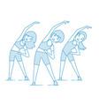 aerobics train create a beautiful figure vector image