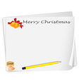 an empty christmas card template with a sharpener vector image vector image
