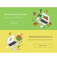 Analytics and marketing processes vector image
