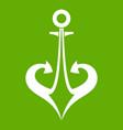 anchor icon green vector image vector image