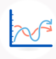 Arrow growing upward on graph vector image vector image