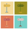 assembly flat icons airport sign vector image vector image
