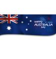 australia day design of flag and firework vector image