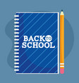 back to school education notepad and pencil vector image