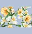 botanical pattern flower watercolor thanks card vector image vector image