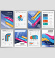 business brochure template with infographic vector image vector image