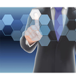 Businessman of visual touch screen vector image