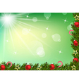 Christmas background with balls and decoration vector image vector image