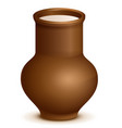 clay pottery jug pitcher full of milk vector image vector image