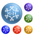complex chemical formula icons set vector image vector image