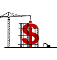 construction dollar vector image vector image