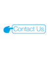 contact us button with hand cursor can be used vector image vector image