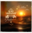 Creative graphic message for your summer design vector image vector image