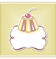 Cute cupcake border vector image vector image