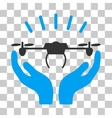 Drone Launch Hands Icon vector image vector image