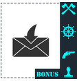 envelope icon flat vector image vector image