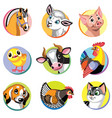 farm animals icons set two vector image vector image