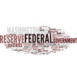federal word cloud concept vector image vector image
