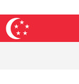 Flag of Singapore vector image vector image