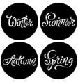 four seasons set spring summer autumn winter vector image vector image
