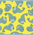 fur seal seamless pattern vector image vector image