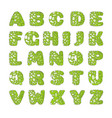 green font with holes that looks like slime vector image