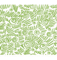 greenery doodles seamless pattern background vector image vector image