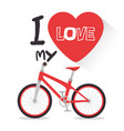 i love my bike label template vector image vector image