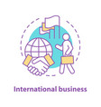 international business concept icon vector image vector image