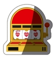 Isolated slot machine design vector image