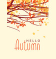 landscape with autumn leaves on branches of trees vector image vector image