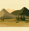 layers of mountain landscape with fir forest vector image vector image