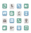 mobile phone and communication icons vector image vector image