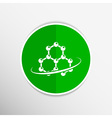 Molecule icon atom chemistry symbol element vector image