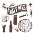 monochrome brewery icons vector image vector image