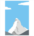 mount matterhorn in the alps vector image vector image
