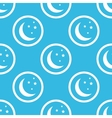 Night sign blue pattern vector image