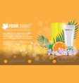 orange cosmetics product ads poster template vector image vector image