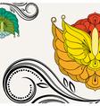 Oriental floral background Element for design vector image