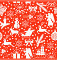 pattern seamless with christmas symbols vector image