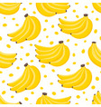 pattern with cartoon banana isolated on vector image