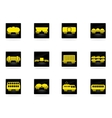 rail-freight traffic icons vector image vector image