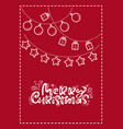 red xmas scandinavian greeting card with merry vector image vector image