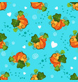 seamless pattern with pumpkin and decorative vector image vector image